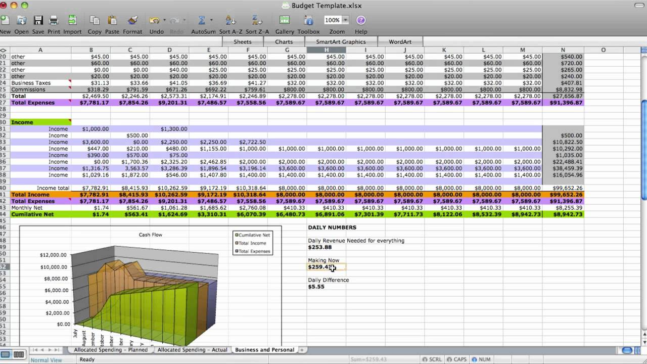 how to keep track of business expenses and income excel