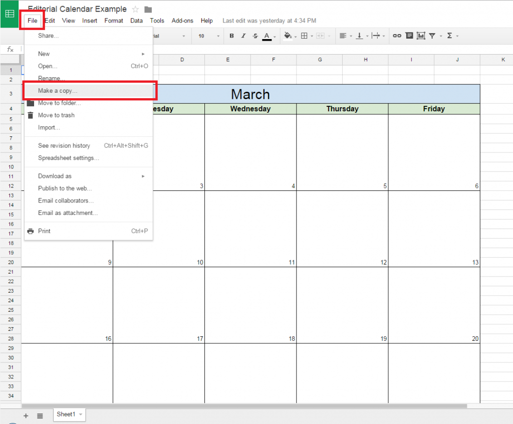 how to make a spreadsheet on google docs