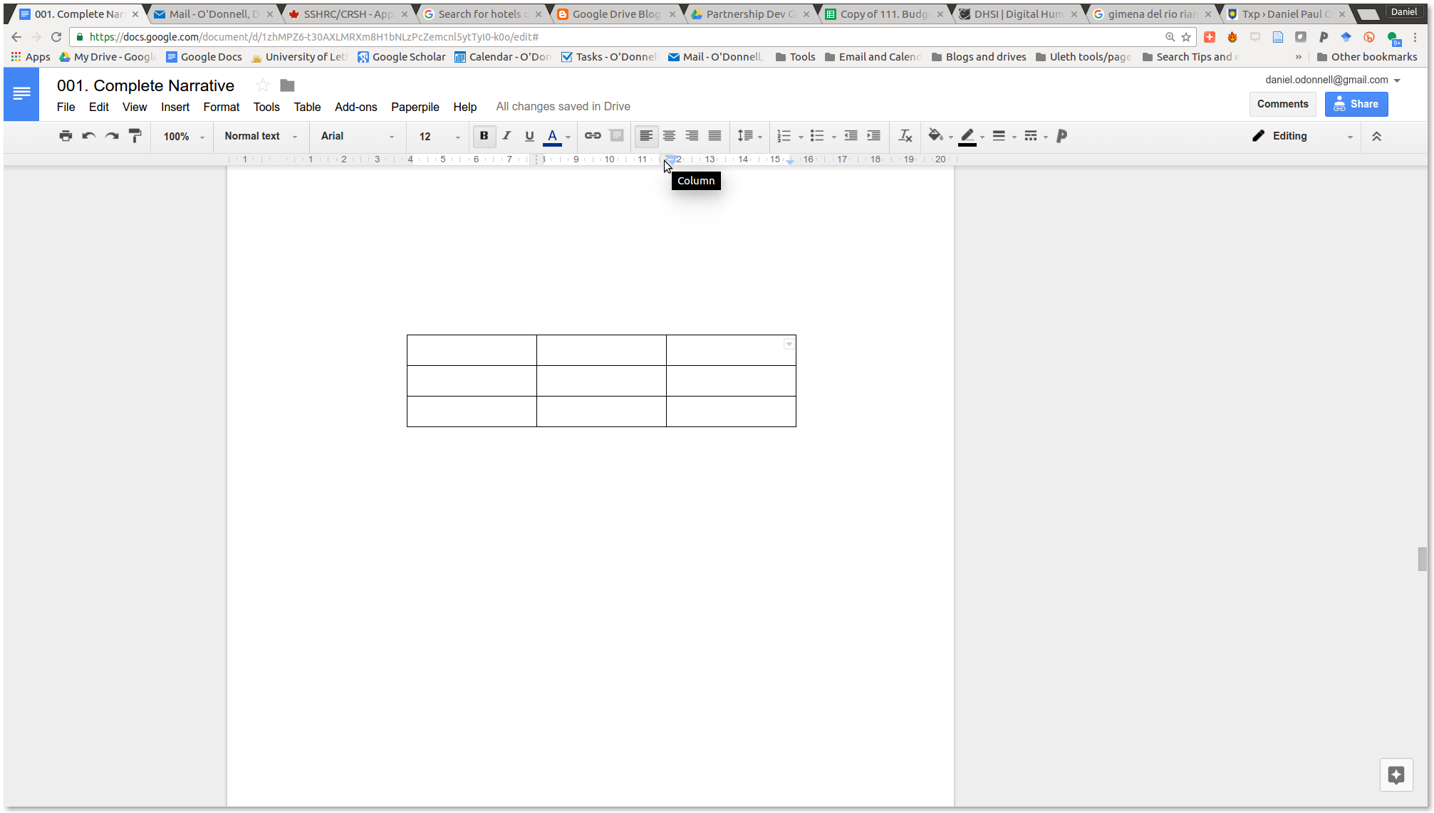 how to make a table of contents in google docs
