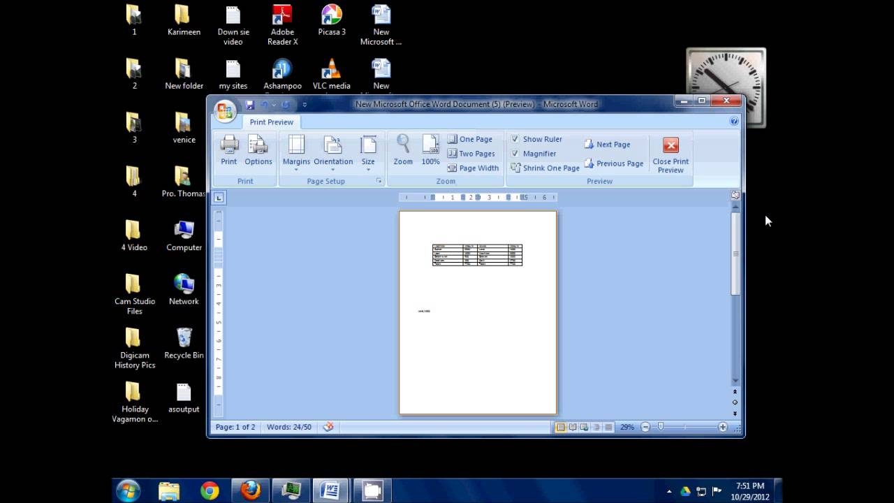 how to make a worksheet in microsoft word