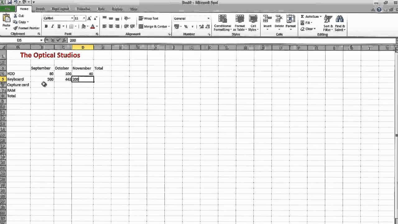 how to make an inventory spreadsheet in excel