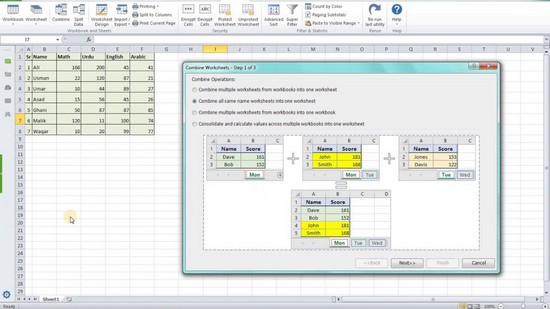how to merge two excel files into one
