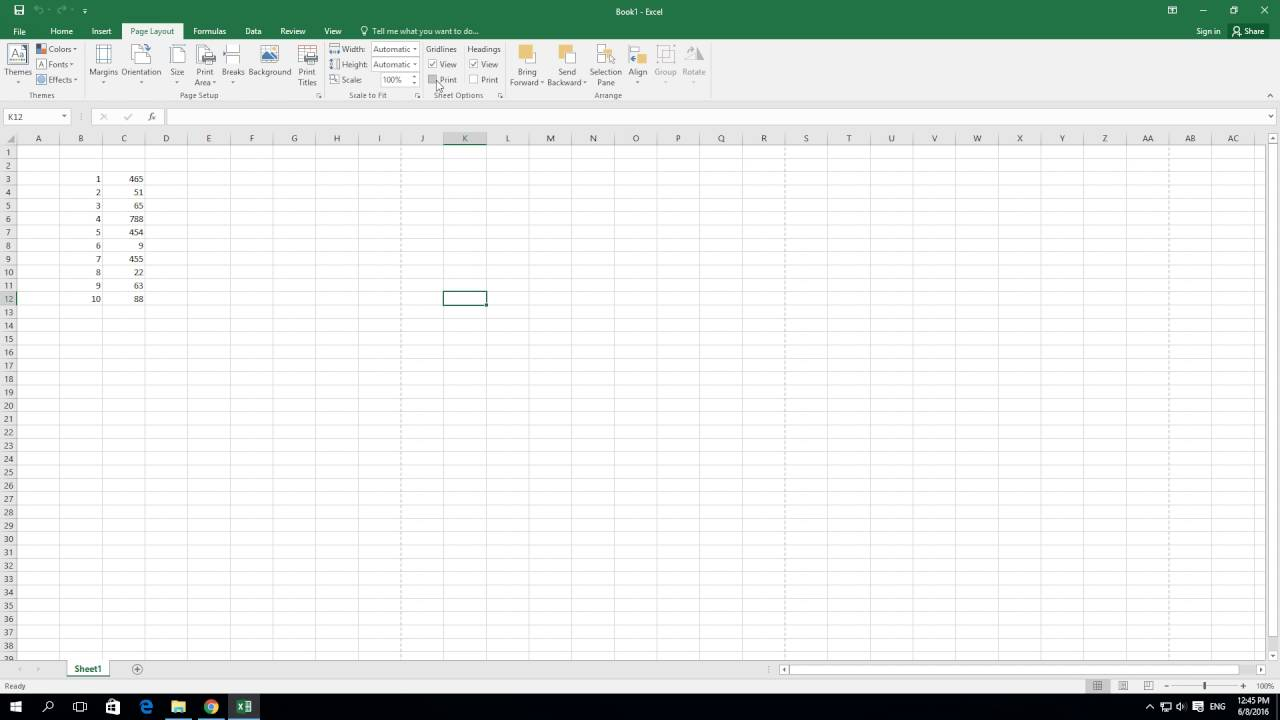 how to print a blank excel sheet with gridlines Tutorials free