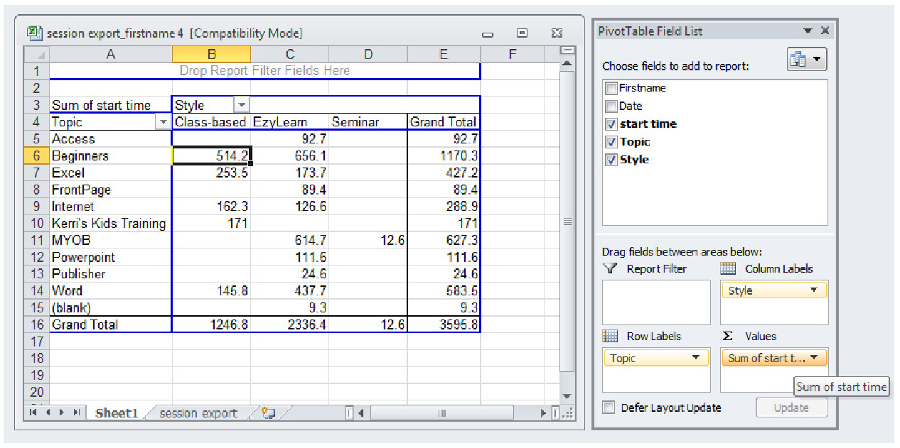 how to publish an excel spreadsheet on the web