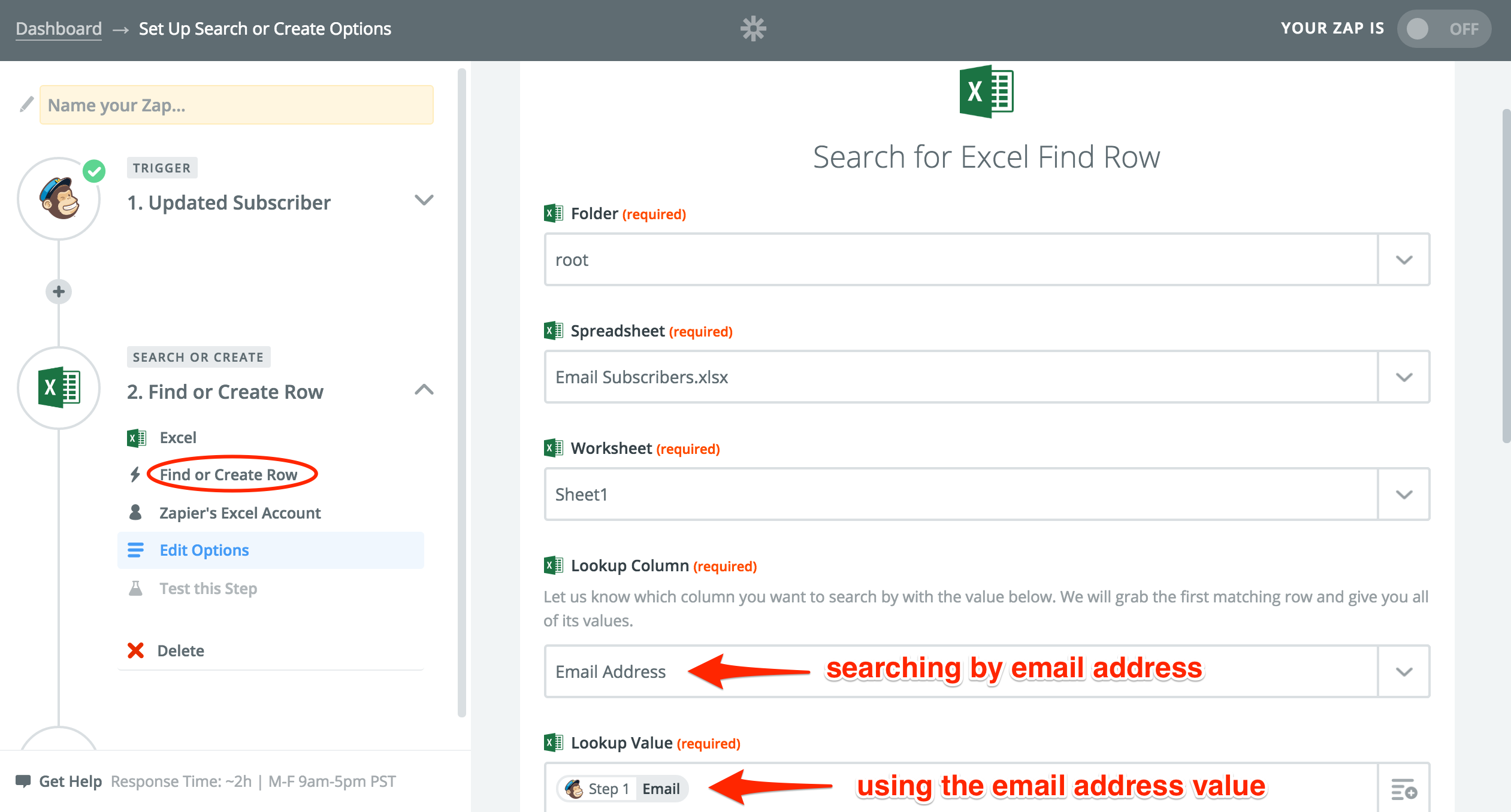 how to set up an excel spreadsheet for mail merge