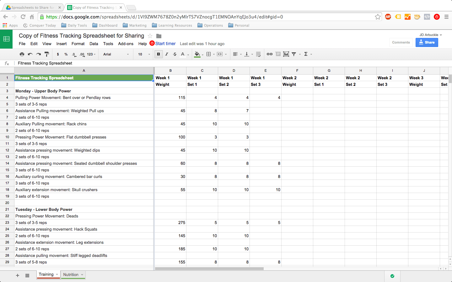 how to setup a google docs spreadsheet