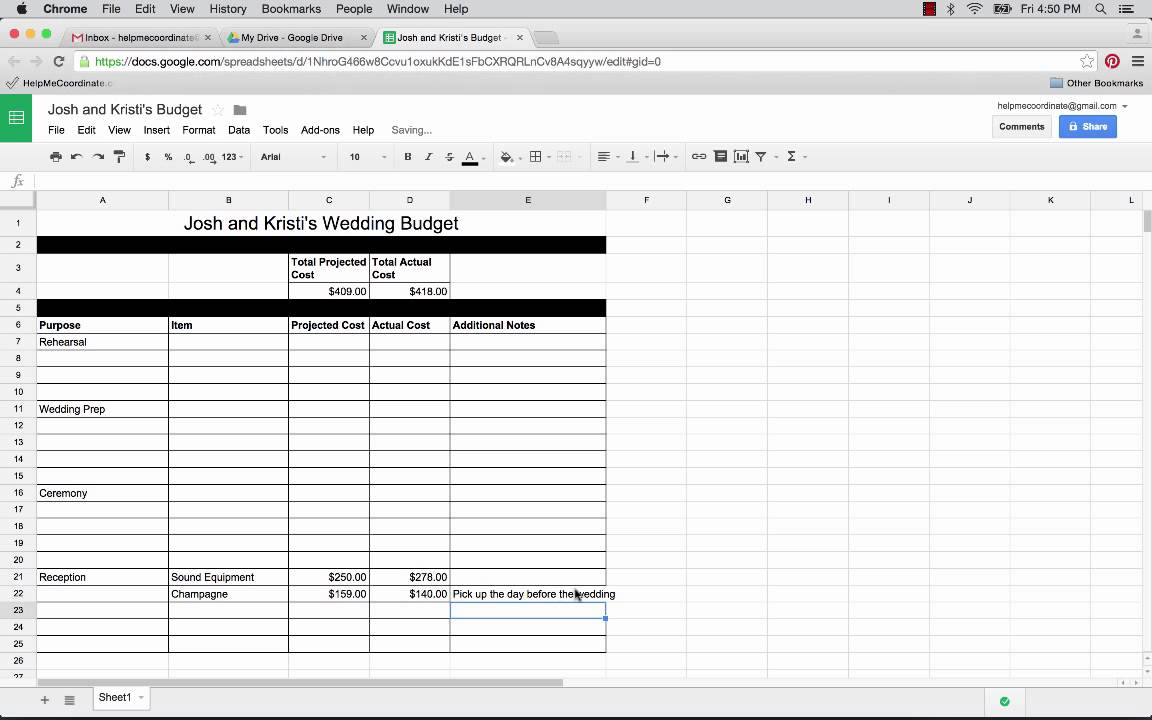 how to use google docs spreadsheets