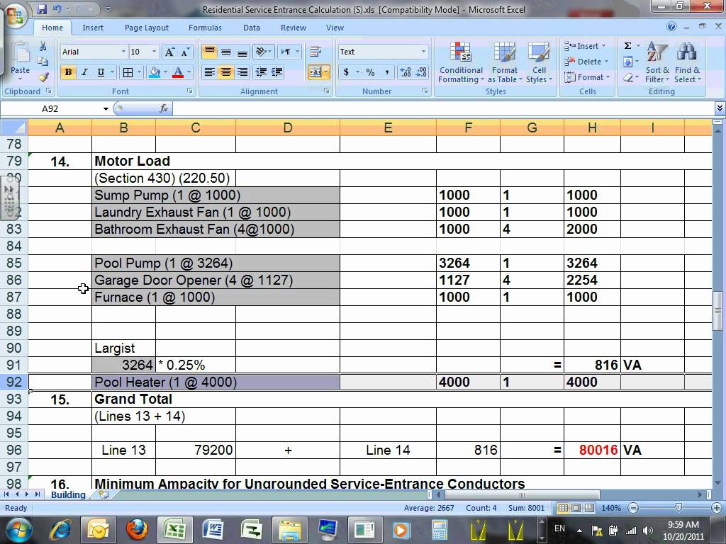 Hvac Load Calculation Spreadsheet | LAOBING KAISUO