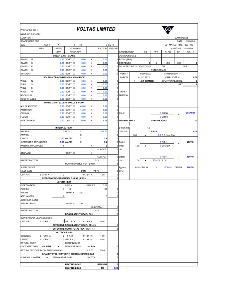 hvac load calculation pdf
