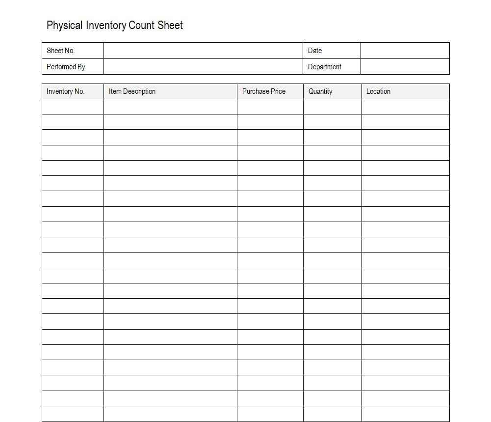 inventory spreadsheet examples download