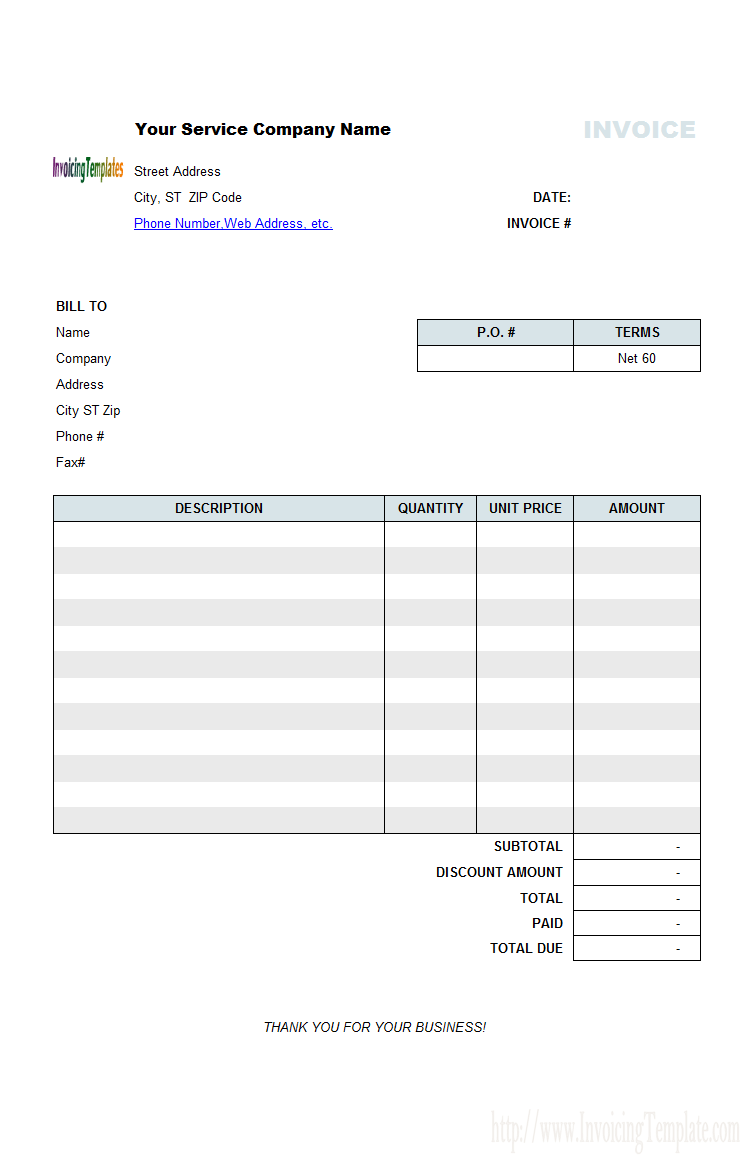 invoice tracking spreadsheet excel