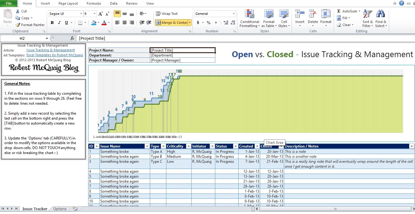 issue tracking spreadsheet template excel download free