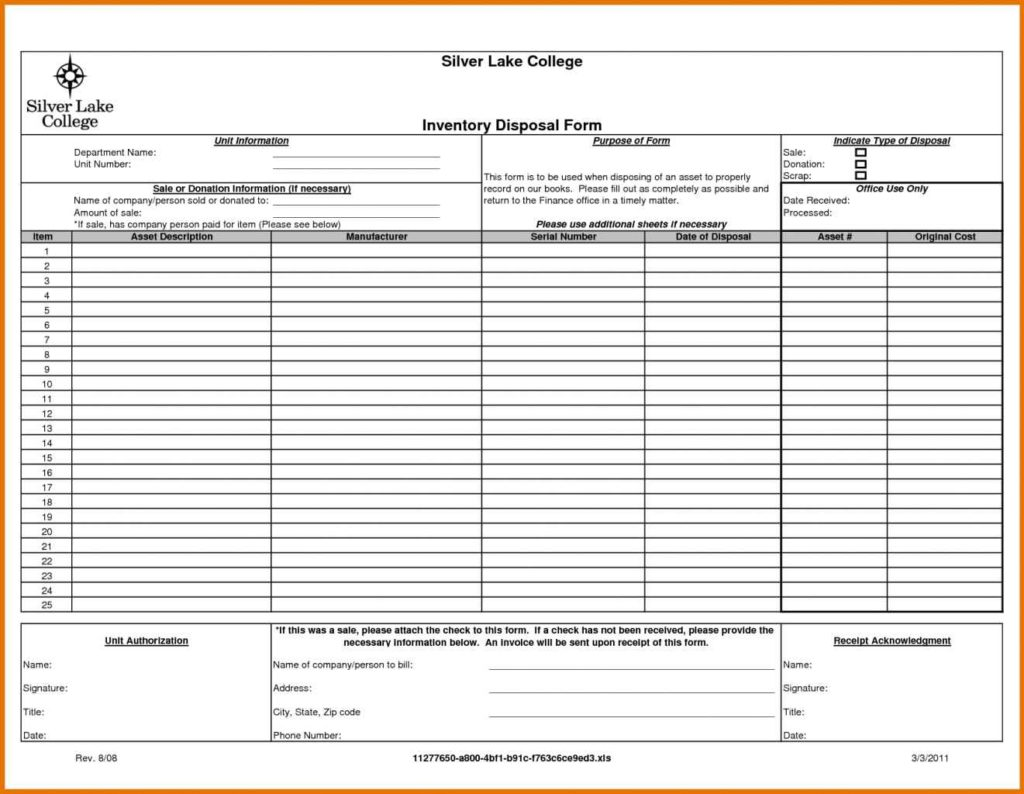 jewelry inventory list template download
