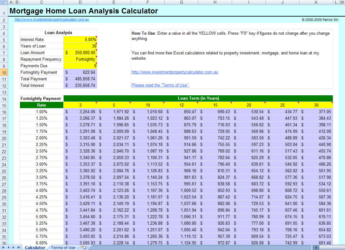 loan amortization calculator india