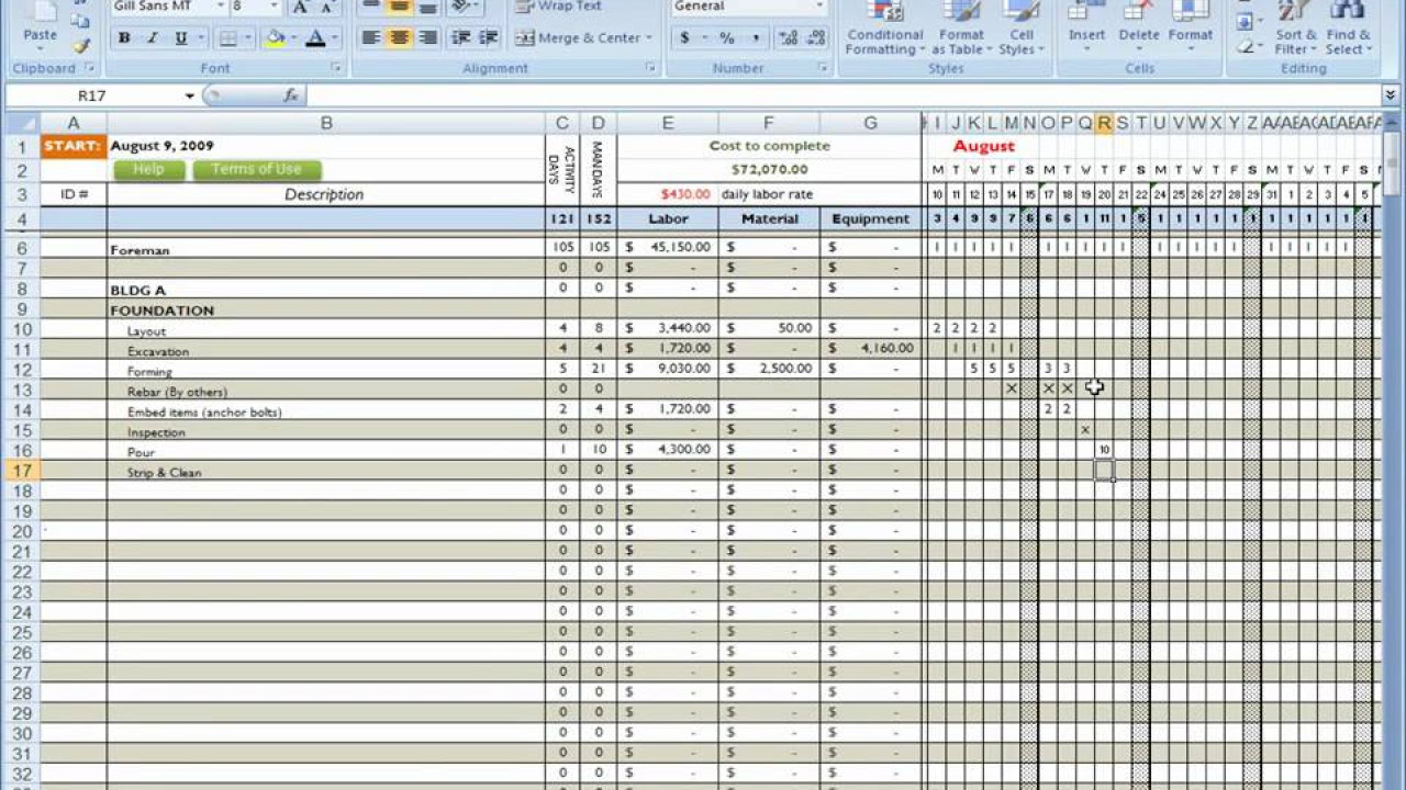 Lumber Takeoff Spreadsheet