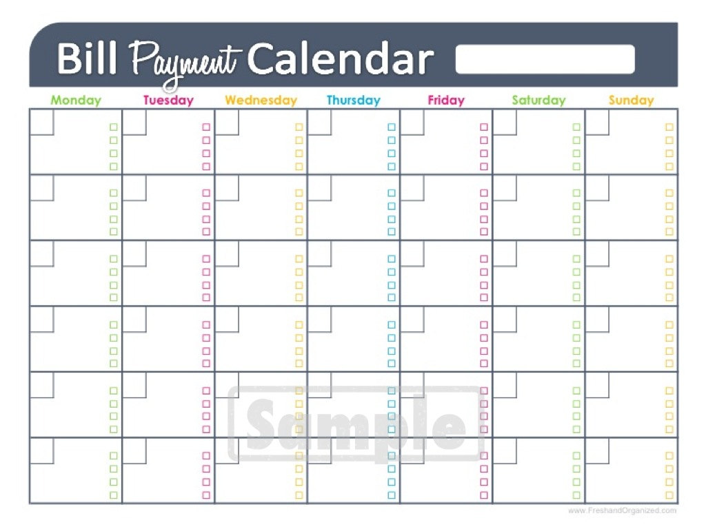 monthly bills spreadsheet template excel free