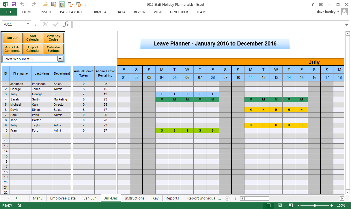 monthly vacation accrual spreadsheet