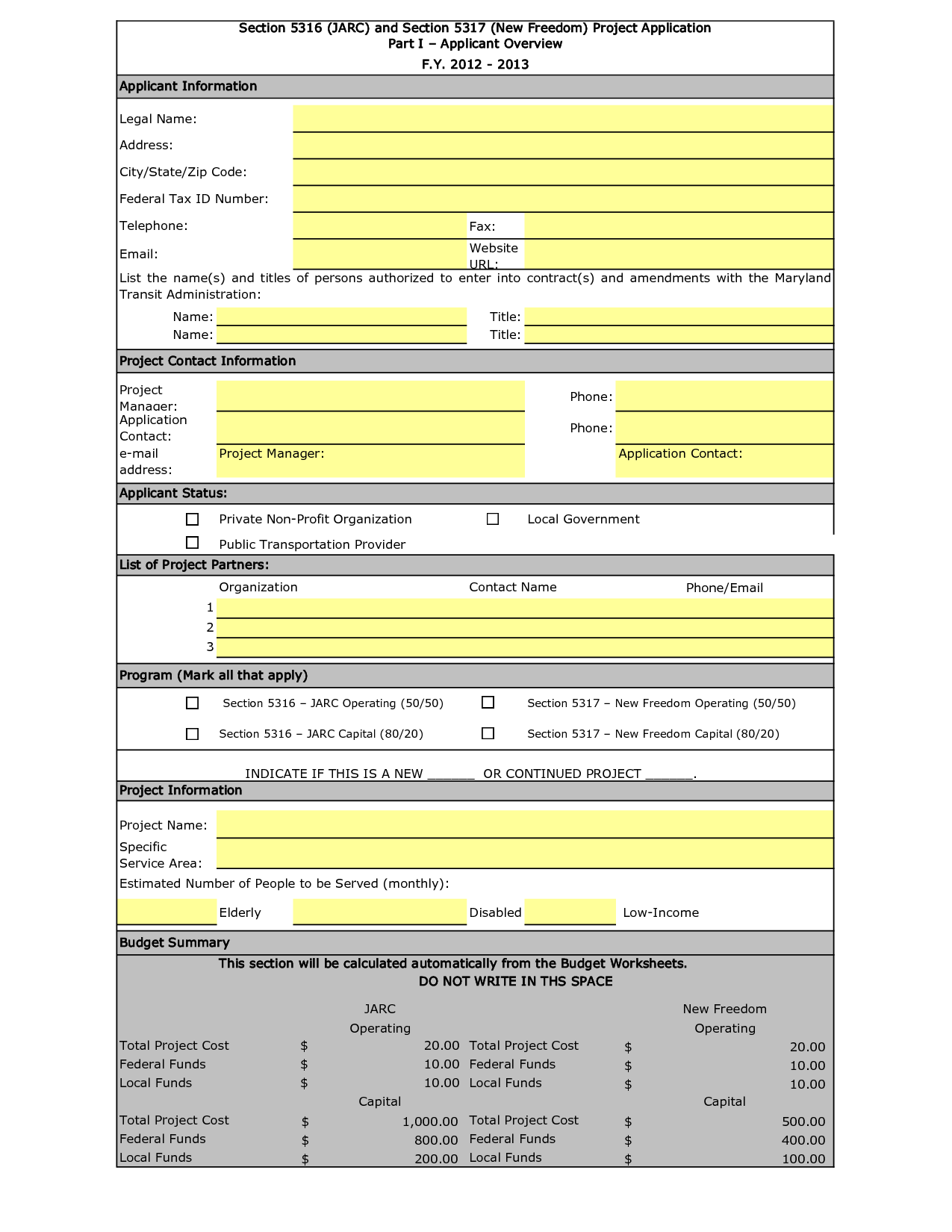 nonprofit startup budget template