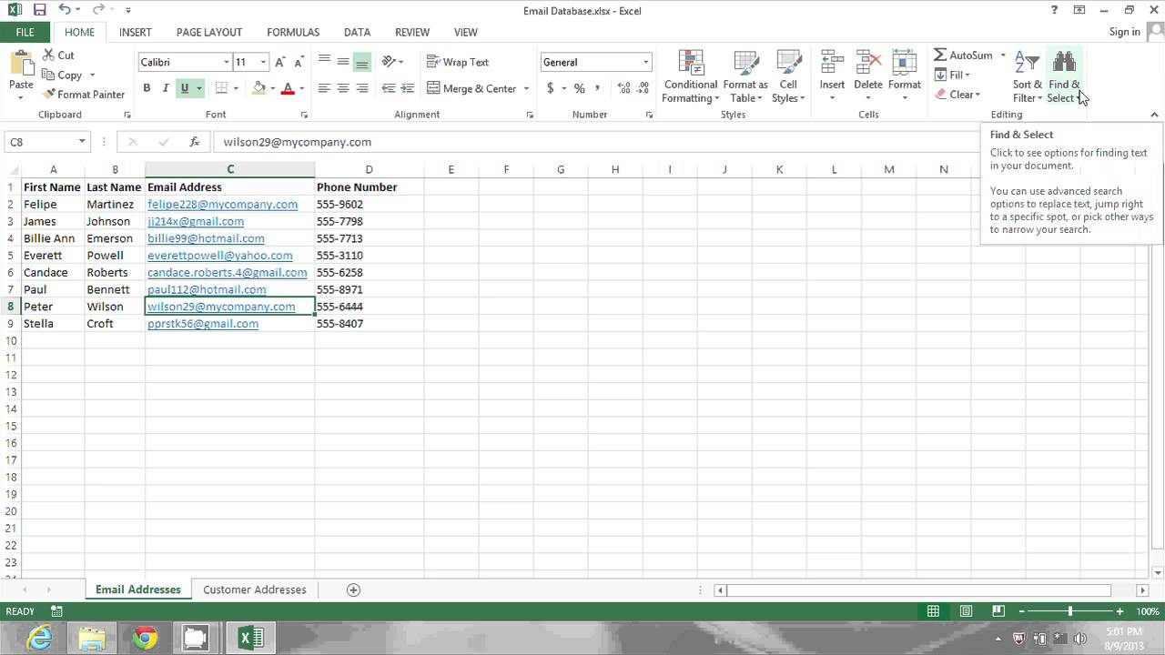 Parts Of an Excel Spreadsheet