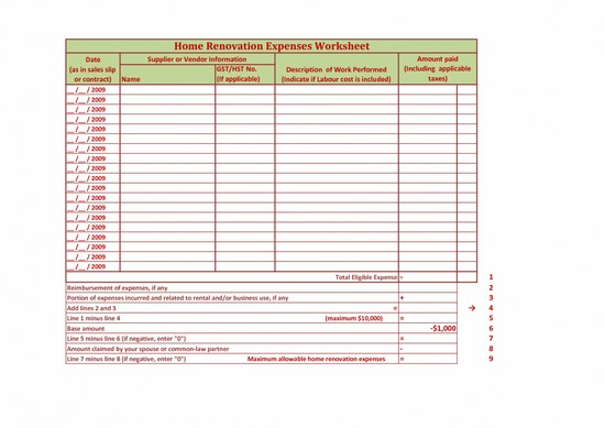 personal budget spreadsheet for ipad