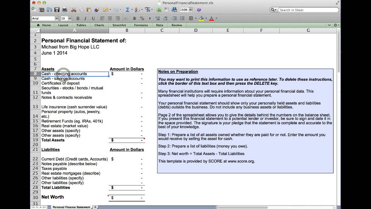 personal finance spreadsheet excel Free