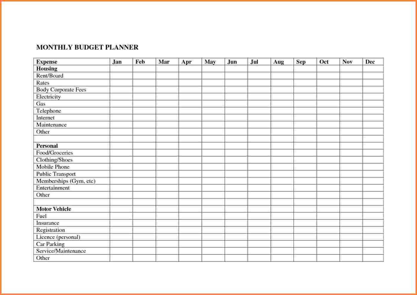 personal finance spreadsheet excel Templates Free