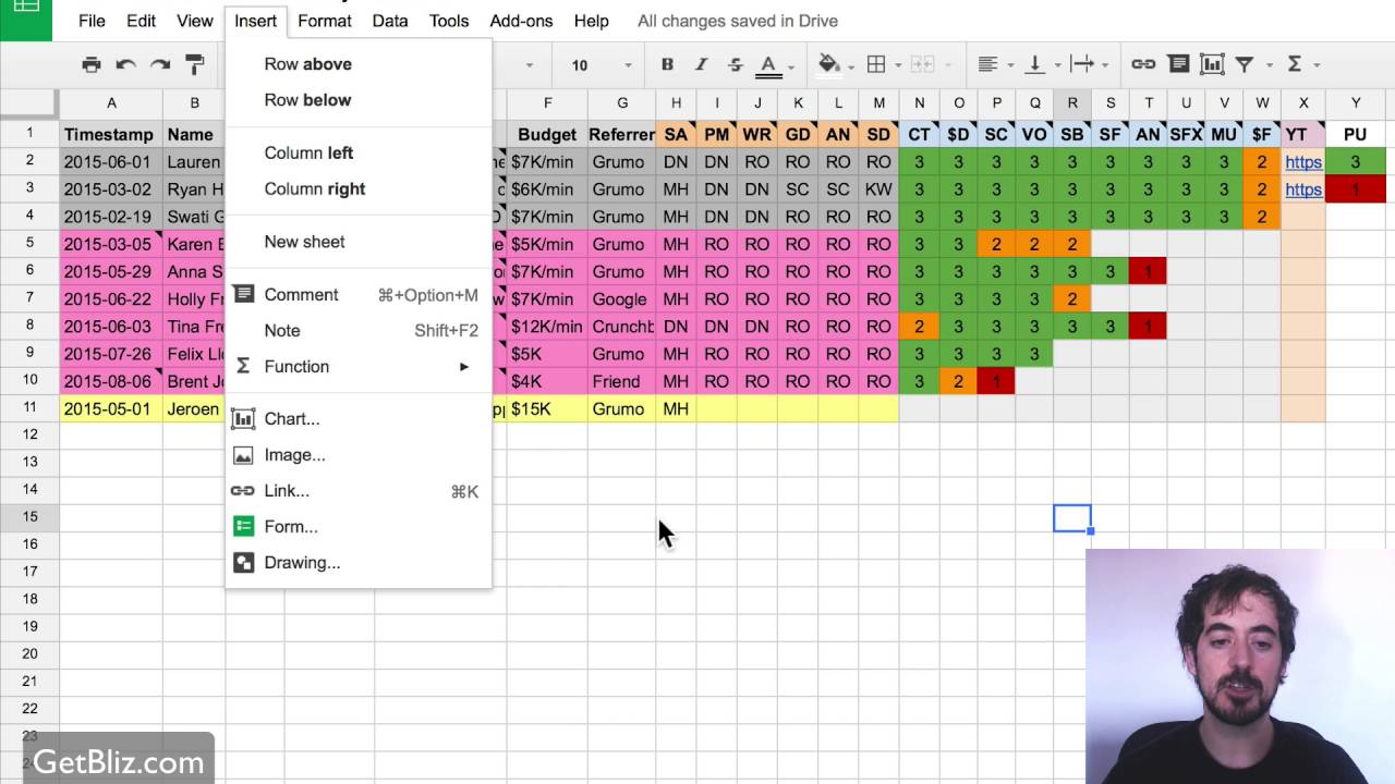 project management spreadsheet google docs download