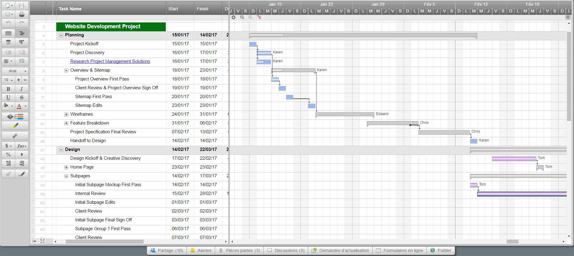project management spreadsheet template google docs free