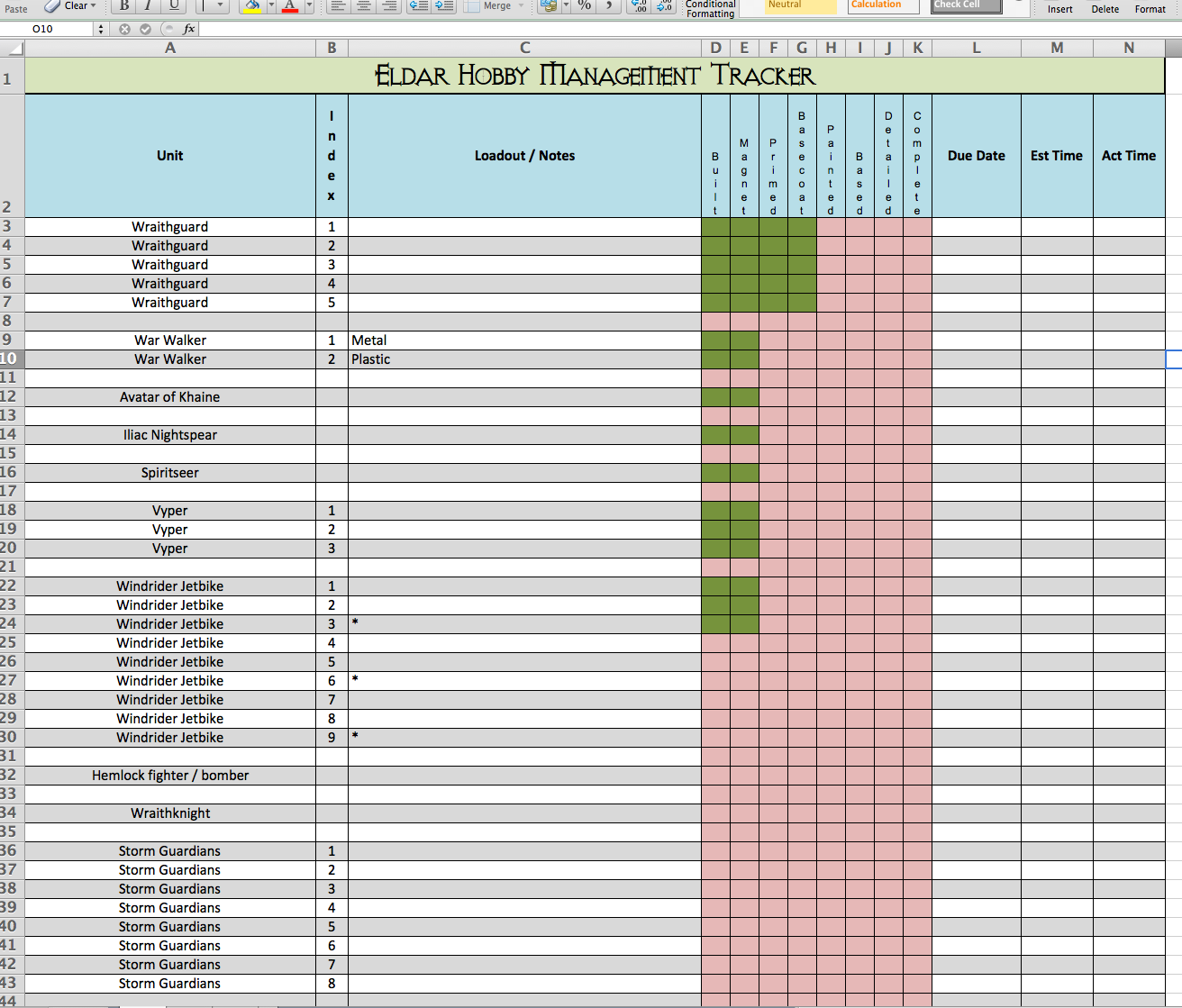 project tracking spreadsheet template