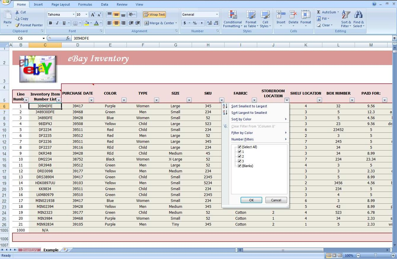 purchase order tracking excel sheet