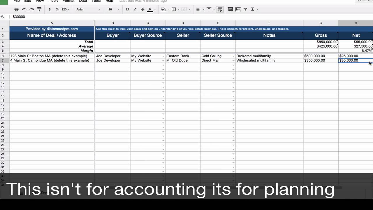real estate cash flow analysis spreadsheet