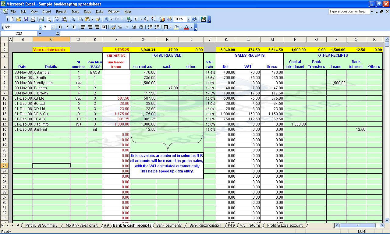rental property excel spreadsheet free uk