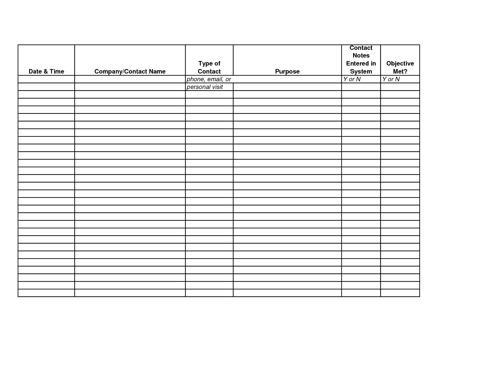 sales call tracking spreadsheet free download