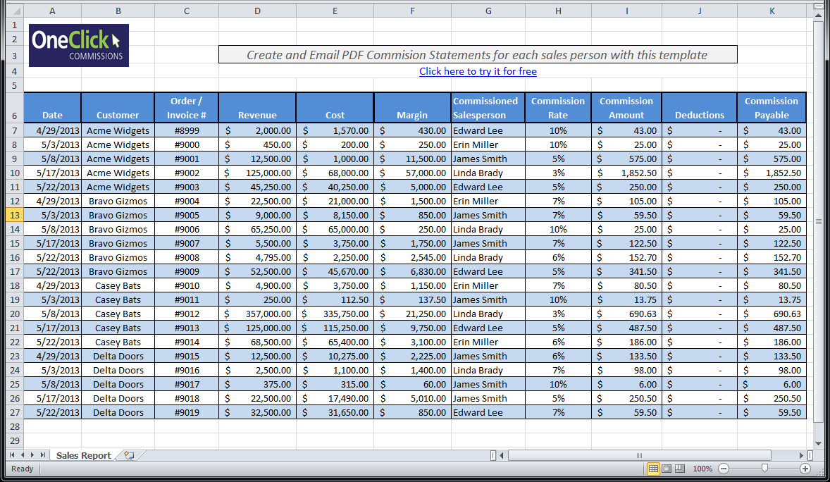 sales tracker excel free download