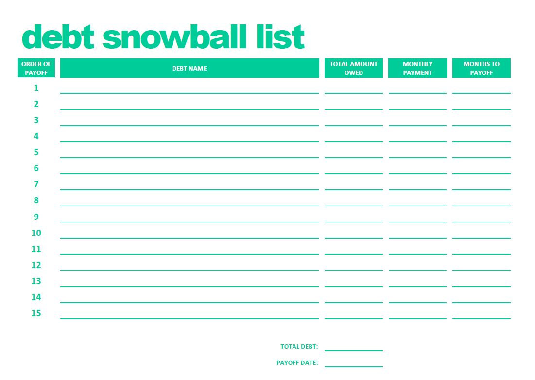 snowball credit card payoff spreadsheet download