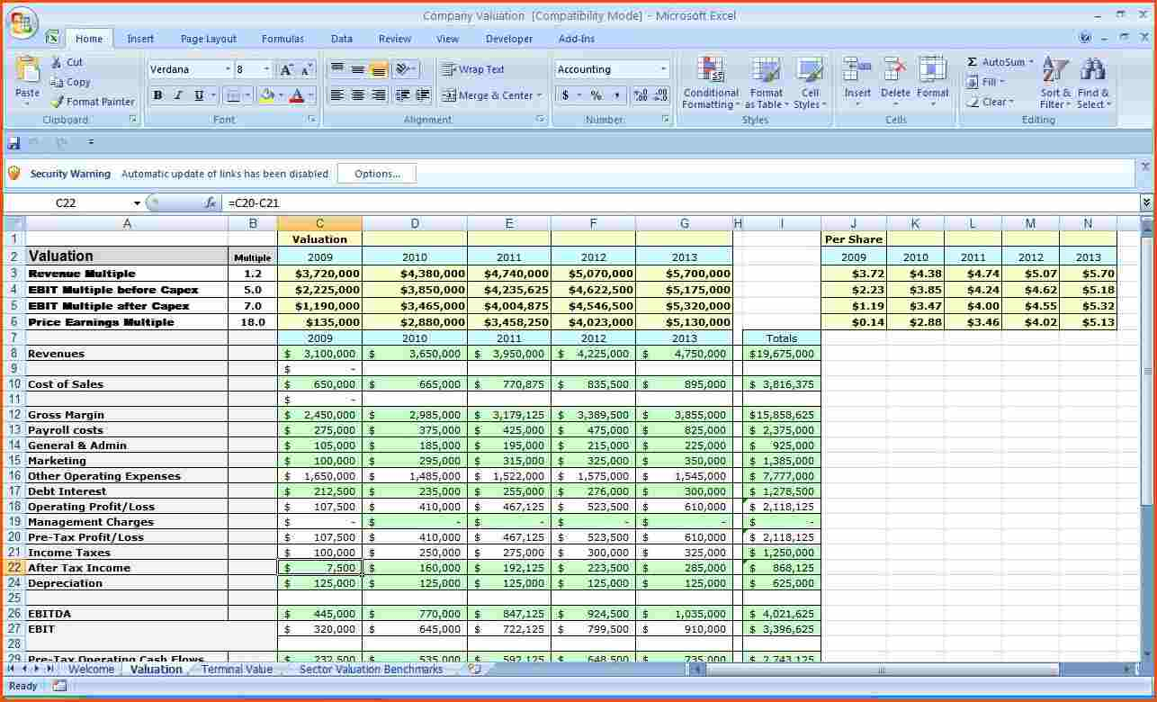 spreadsheet for business expense tracking