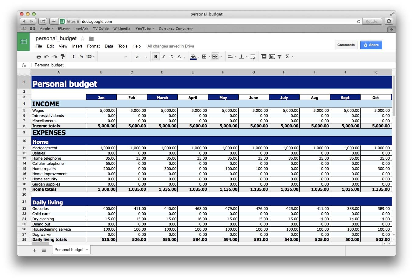 spreadsheet program for mac free download