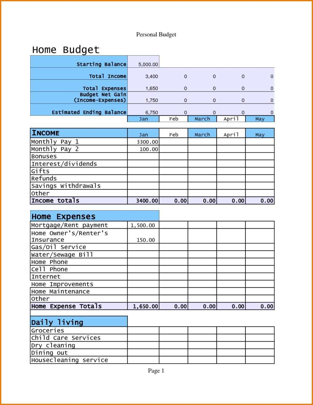 spreadsheet templates for business