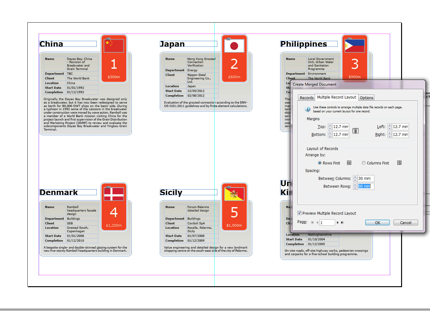 tables in indesign cc