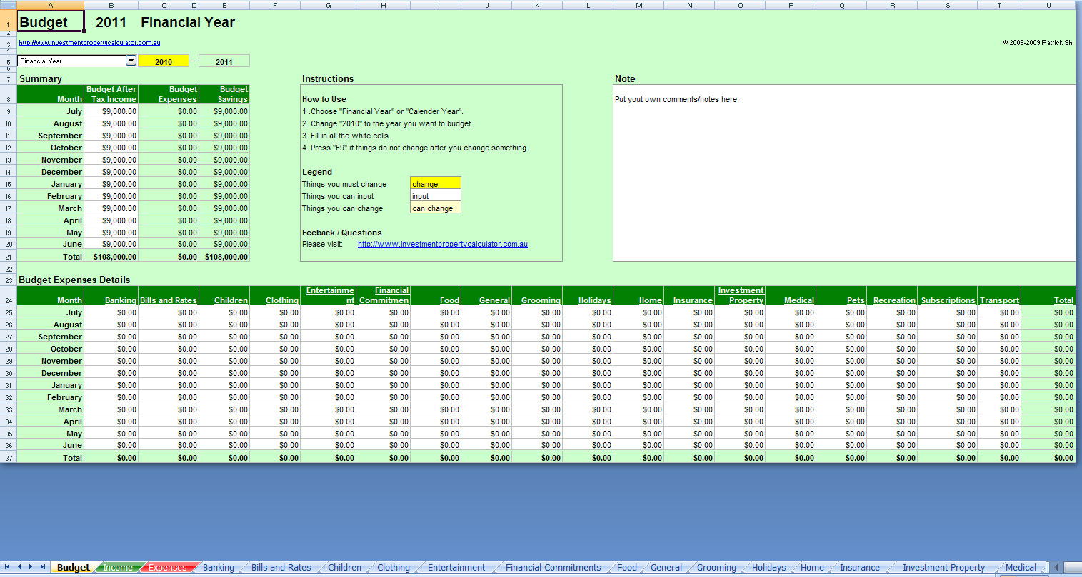 templates Free Bill Management Spreadsheet download