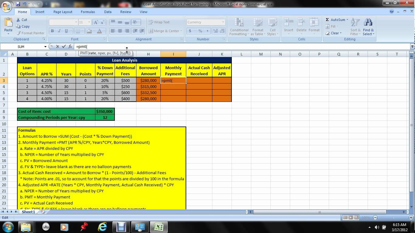 templates excel mortgage calculator with extra payments free