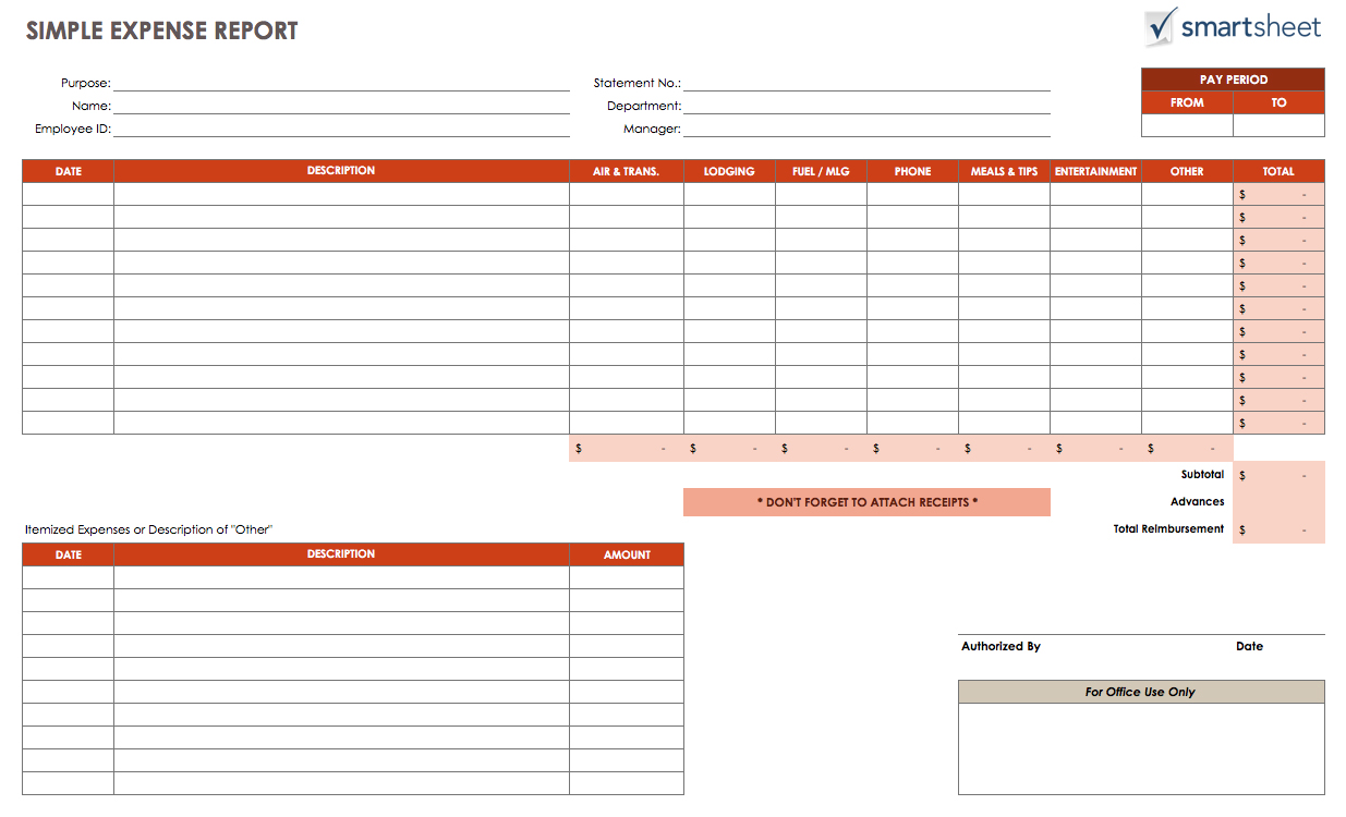templates free trucking expenses spreadsheet
