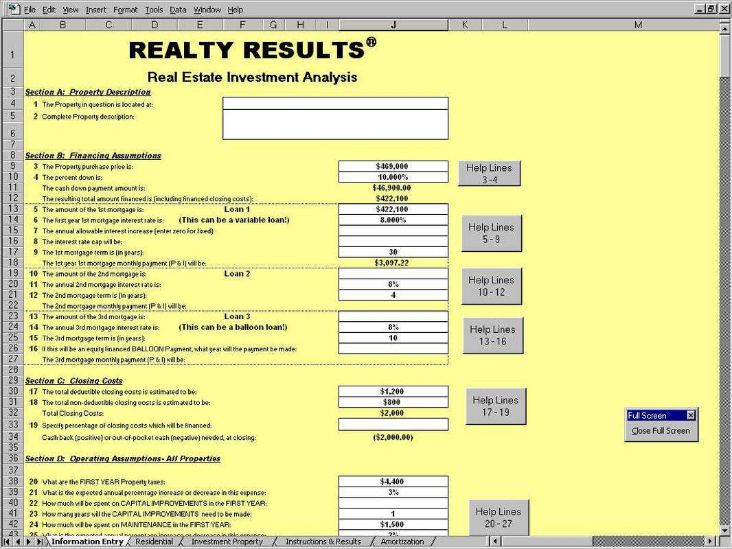 templates real estate math formulas free