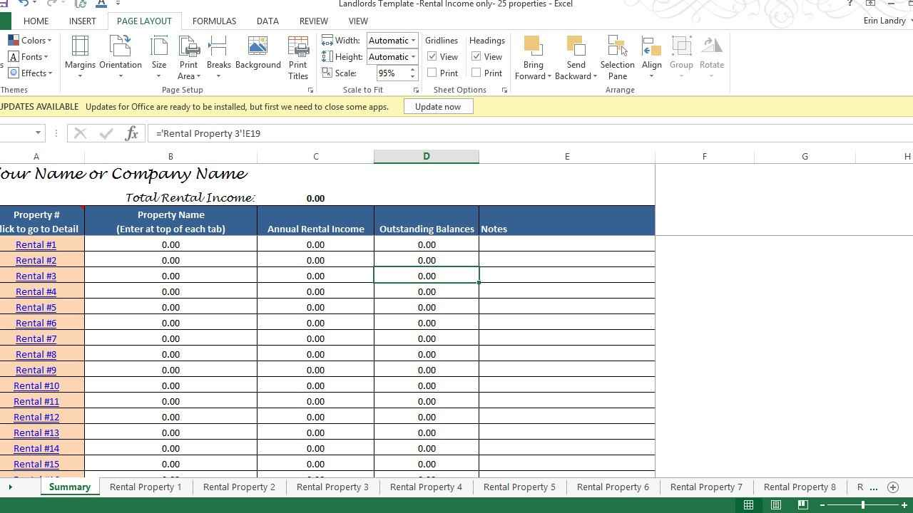 templates rental property excel spreadsheet free