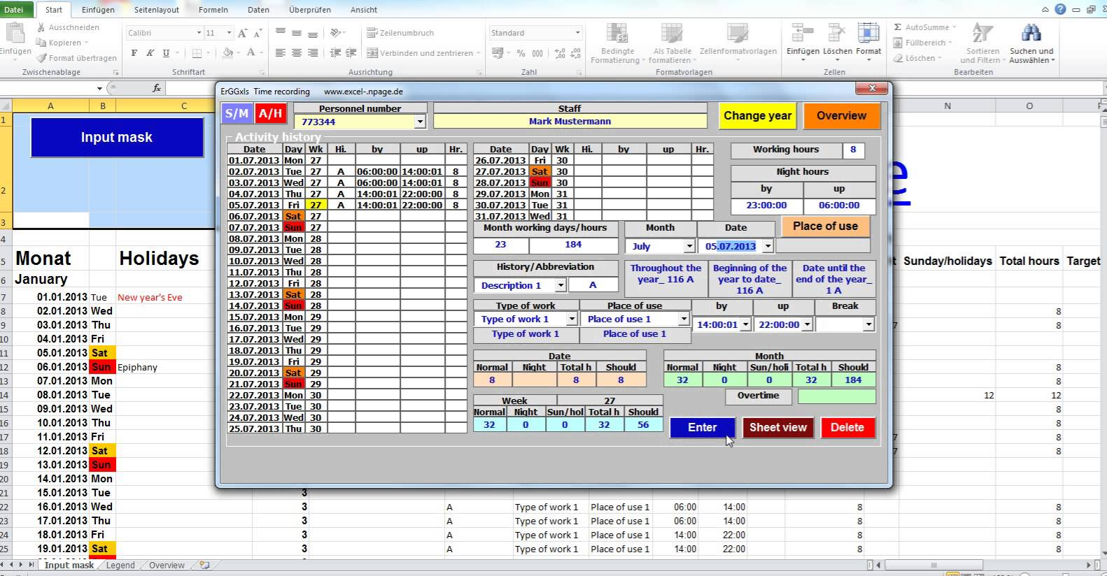 time tracking spreadsheet excel 2010