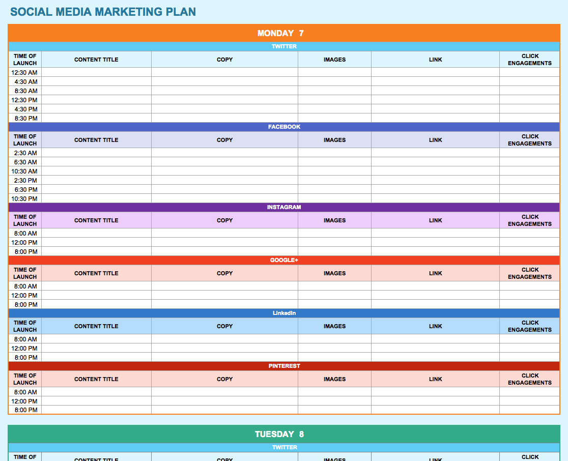 training plan template excel download