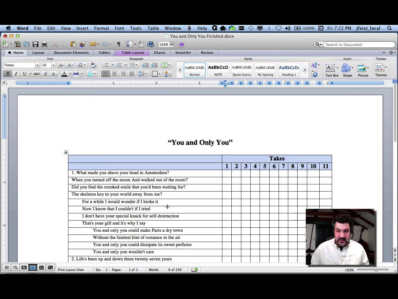 tutorials how to make a spreadsheet in microsoft word