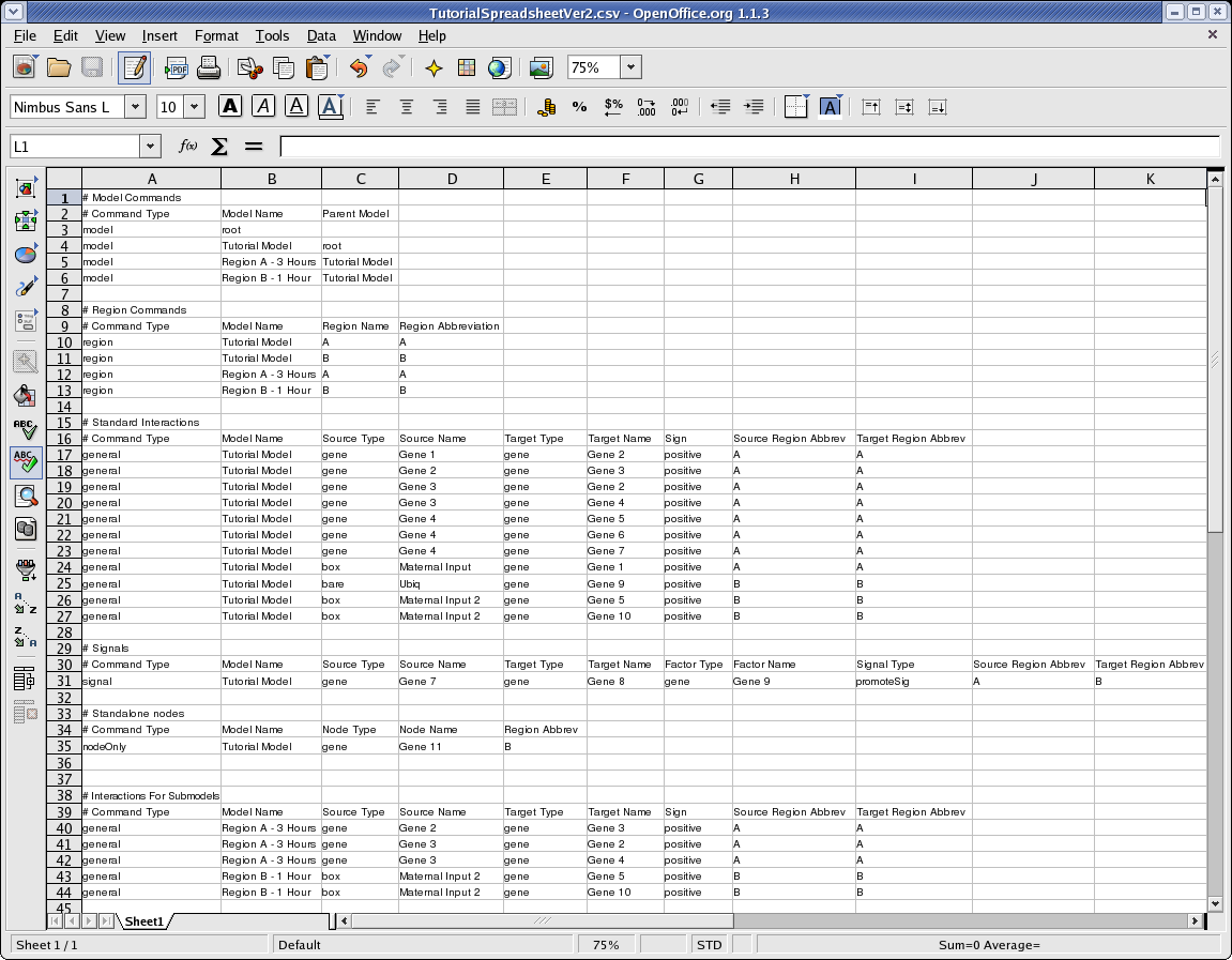 types of spreadsheet application