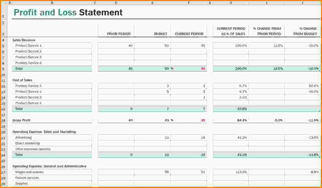 Self Employed Spreadsheet Template