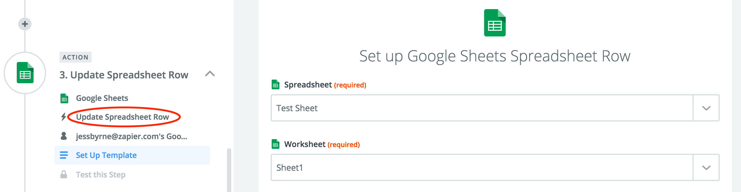 use google spreadsheet as database javascript